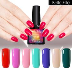 ตรวจราคา ### Belle Fille Nail Gel Polish 10ml Vampire Blood Red...