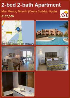 2-bed 2-bath Apartment in Mar Menor, Murcia (Costa Calida), Spain ►€137,000 #PropertyForSaleInSpain