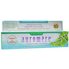 AUROMERE: Ayurvedic Herbal Toothpaste Fresh Mint, 4.16 oz