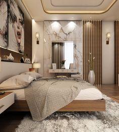 Modern Master Bedroom With Living Area - Qatar - Mio - ideen deckengestaltung Modern Luxury Bedroom, Master Bedroom Interior, Luxury Bedroom Design, Modern Master Bedroom, Master Bedroom Design, Luxurious Bedrooms, Bedroom Decor, Interior Design, Bedroom Furniture