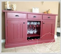 Red sideboard | Do It Yourself Home Projects from Ana White