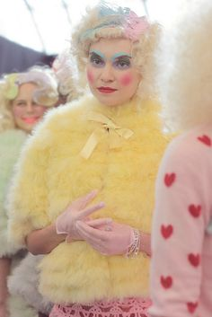 Last month, Edward Meadham and Benjamin Kirchhoff were nice enough to let Eleanor come backstage at Meadham Kirchhoff's Spring/Summer 2012 show in London. Bio Queen, Dainty Doll, Meadham Kirchhoff, Grayson Perry, Fairytale Fashion, Make Do And Mend, Wild Style, Knitwear Fashion, Kinds Of Clothes