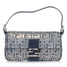 Fendi Crystal Ff Monogram Jeweled Baguette