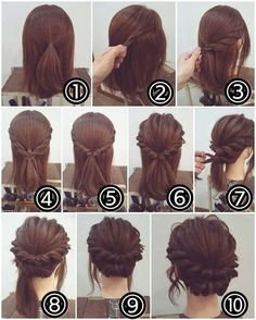 170 Simple Hairstyles Step by Step With DIYStyling you can . , 170 Simple Hairstyles Step by Step With DIY styling you can stand out from the crowd. Simple Wedding Hairstyles, Short Wedding Hair, Braided Hairstyles, Fast Hairstyles, Prom Hairstyles, Boho Wedding, Wedding Ideas, Hairstyle Ideas, Wedding Simple