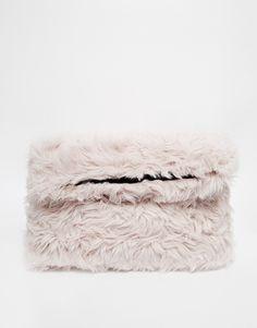 ASOS Faux Fur Cuddle Clutch Bag