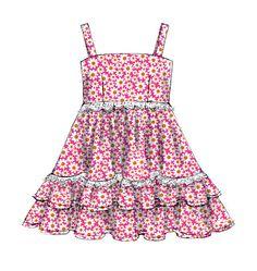 M6685, Children's/Girls' Dresses