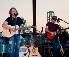 Eric Dysart and Tobias Freeman from the band Backroad Anthem