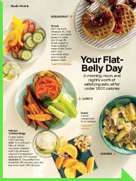 "Snack and dip ideas... I saw this in ""Your Flat-Belly Day"" in Women's Health April 2014."