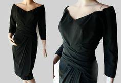 50s Dress / Robert Morton / Mad Men / LBD / Wiggle Dress / Cocktail / Marilyn Monroe