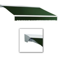 Awntech Beauty-Mark Destin 14' Motorized Retractable Awning, Green