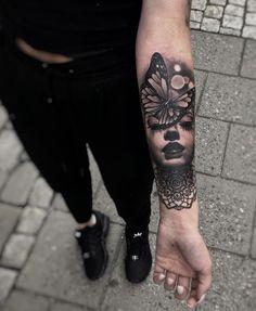 Sleeve Tattoo Idea #SleeveTattooIdea Inner Arm Tattoos, Inner Forearm Tattoo, Small Forearm Tattoos, Forearm Sleeve Tattoos, Arm Tattoos For Women, Girly Sleeve Tattoo, Mandala Tattoo Design, Forearm Mandala Tattoo, Tattoo Designs