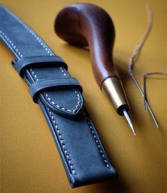 Just finished suede #watchstrap for a vintage #rolex #handmade #handsewn #handstitched #bespoke #menstyle #menfashion #fashion #style #crafts #simaprague