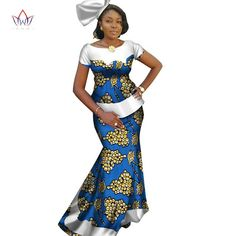 Image of African Skirt Set For Women Dashiki Plus size New Style,African Dresses For Women African Print Long Dresses Dashiki Dress,African party dress , African clothing, Ankara skirt and blou African Party Dresses, Latest African Fashion Dresses, African Print Dresses, African Dresses For Women, African Print Fashion, African Wear, African Attire, African Skirt, African Women
