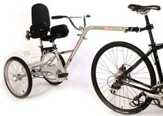 """Mission Piggyback Mk2 Folding Teen to Adult Special Needs Bike Trailer with 24"""" Wheels (MK11)"""