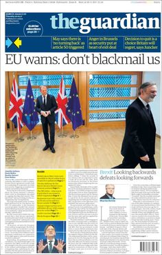 Portada de The Guardian (United Kingdom) Newspaper Design, The Guardian, Regrets, United Kingdom, Sayings, Archive, Layout, Printing Press, Cover Pages