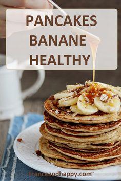 Pancake banane Healthy : Cette recette de pancakes a la banane est a TOMBER ! A tester d'URGENCE !! Leger, healthy et si bon :)