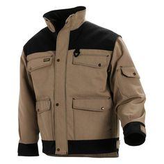Blaklader 4882 Heavy Worker Canvas Lined Jacket - Khaki / Black