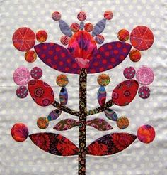 Kim McLean Lollypop Tree block.  Love the reds