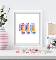 Lipstick Printable Lipstick Art Print Makeup by TheLilPrintables Purple Wall Art, Blue Wall Decor, Purple Walls, Room Wall Decor, Printable Designs, Printable Art, Nursery Prints, Wall Art Prints, Teen Wall Art