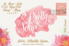 Pretty Script (50%Off) by Decade Type Foundry on Creative Market