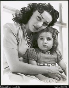 Portrait of Queen Fawzia and Princess Shahnaz Pahlavi
