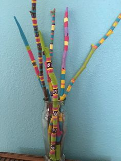 Painted driftwood hand painted sticks von LivingLikeLexie auf Etsy