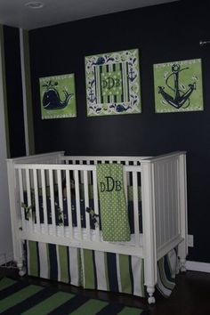 Custom Nautical Javis Davis Boys Crib Bedding Baby Room Decor Bedroom Boy