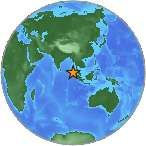 Earthquake location 3.067°N, 96.868°E