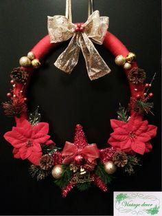 Diy Christmas wreath. A Christmas Story, Diy Christmas, Christmas Wreaths, Winter's Tale, Holiday Decor, Handmade, Home Decor, Christmas Swags, Hand Made