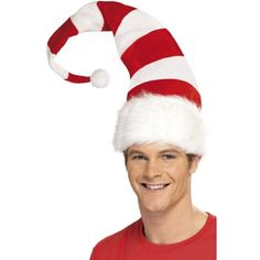 96f4e8c850e ... Unique Christmas Hats Costume Winter Dresses. buy striped santa hat  available for next day delivery striped santa hat red and white tall