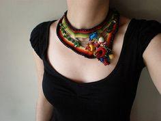 Incarvillea ... Freeform Crochet Necklace | por irregular expressions