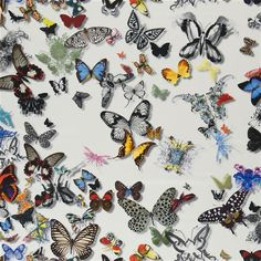 Butterfly Parade - Opalin #Fabrics from Christian Lacroix Maison