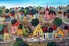 Marie-Louise Batardy -When Life is Simple by Marie-Louise Batardy - GINA Gallery of International Naive Art