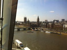 ロンドンアイからビッグベンとテムズ川