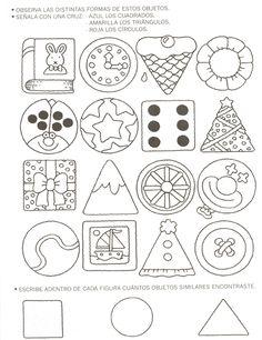 ejercicios de las figuras geometricas para preescolar - Buscar con Google
