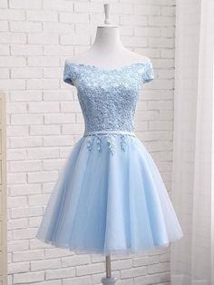 220ff6702ee Blue Short New Style Homecoming Dress 2019