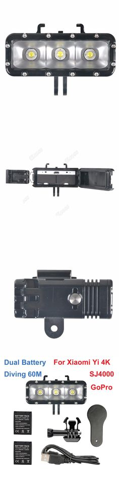 Dual Battery LED Flash Video Light Gopro Hero 5 4 3+3 Session Waterproof Diving Fill/Night lamp For Xiaomi Yi 4K SJCam SJ4000