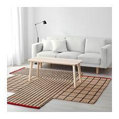 IKEA - ТЕРНСЛЕВ, Ковер, безворсовый, Благодаря оригинальной форме этот прочный ковер станет организующим центром вашего интерьера.Джут – прочный, пригодный для вторичного использования материал с естественными вариациями цвета.Безворсовый ковер прост в уходе, легко чистится пылесосом.