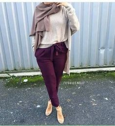 Casual and sporty hijab style – Just Trendy Girls - Just trendy girls - Styles Cool Hijab Chic, Casual Hijab Outfit, Outfits Casual, Modest Outfits, Islamic Fashion, Muslim Fashion, Modest Fashion, Fashion Outfits, Teen Fashion