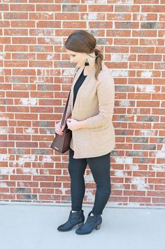 Transitioning into Fall with black + camel