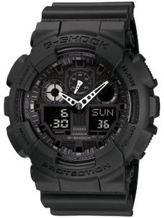 G-Shock X-tra Large GA100-1A1 | Piperlime Casio G-shock, Casio Watch, Digital Watch, Cool Watches, Watches For Men, Michael Kors Watch, Uhren Herren Chronograph, G Shock Black, Casio G Shock Watches