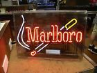 Neon Marlboro Cigarette Tobacco Advertising Light Up Sign Excellent - http://oddauctions.net/tobacciana/neon-marlboro-cigarette-tobacco-advertising-light-up-sign-excellent/