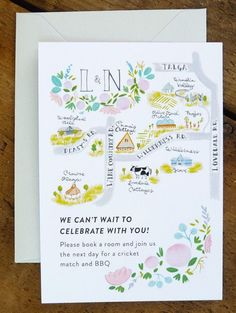 19 Map-Inspired Wedding Invitations via Brit + Co.