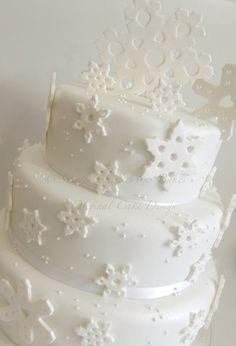 Snowflake wedding cake  Cake by ShereensCakes
