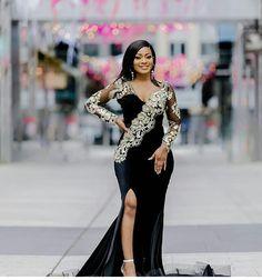 Funky Fashion, Black Women Fashion, Matric Dance Dresses, Beautiful Long Dresses, Velvet Fashion, Lace Outfit, Straight Dress, Long Bridesmaid Dresses, African Dress