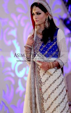 Blue and whiteeee! #Pakistani #Bride