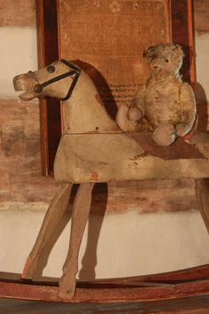 Early Rocking horse and Teddy Bear...