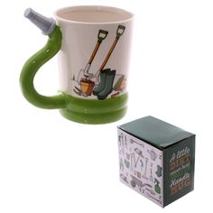 Fun Garden Hose Shaped Handle Ceramic Mug