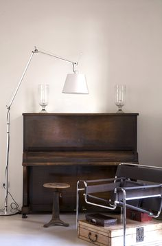Wassily Chair by Marcel Breuer chair and a Tolomeo Mega Lamp