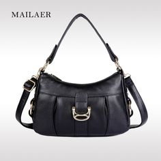 39.00$  Buy here - http://ai9k0.worlditems.win/all/product.php?id=32762164795 - MAILAER Brand Cowhide Leather Women Classic Soft Texture Elegant Bag Fashion Messenger Shoulder Female Bag Handbag Tote Bag